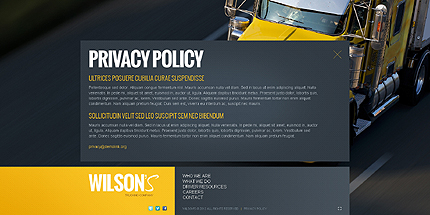 Template 40025 ( Privacy Policy Page ) ADOBE Photoshop Screenshot