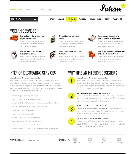 Template 40040 ( Services Page ) ADOBE Photoshop Screenshot