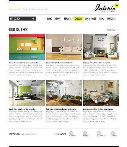Template 40040 ( Gallery Page ) ADOBE Photoshop Screenshot
