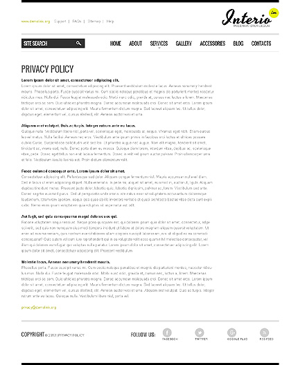 Template 40040 ( Privacy Policy Page ) ADOBE Photoshop Screenshot