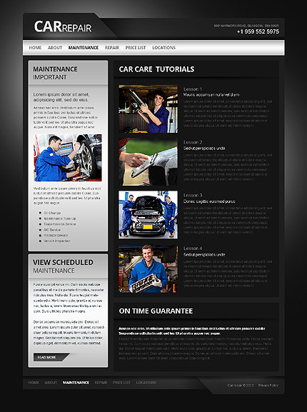 Template 40042 ( Maintenance Page ) ADOBE Photoshop Screenshot