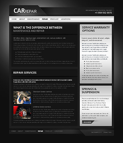 Template 40042 ( Repair Page ) ADOBE Photoshop Screenshot