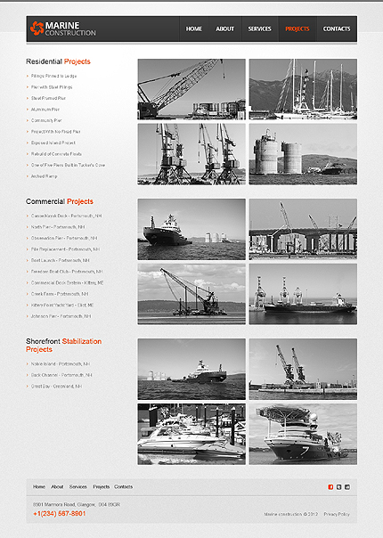 Template 40044 ( Projects Page ) ADOBE Photoshop Screenshot