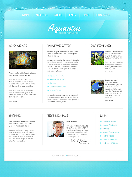 Template 40046 ( About Us Page ) ADOBE Photoshop Screenshot