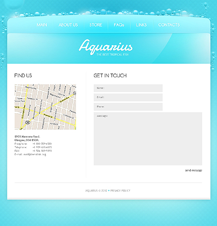 Template 40046 ( Contacts Page ) ADOBE Photoshop Screenshot