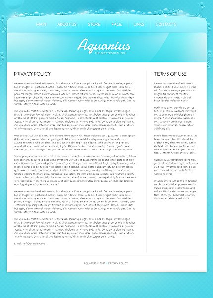 Template 40046 ( Privacy Policy Page ) ADOBE Photoshop Screenshot