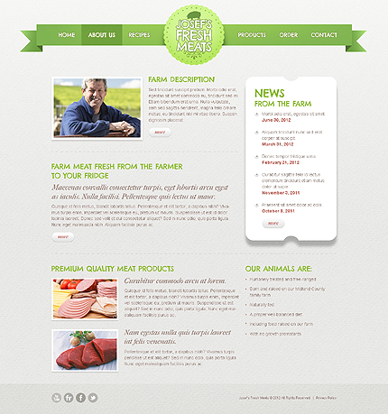 Template 40047 ( About Us Page ) ADOBE Photoshop Screenshot