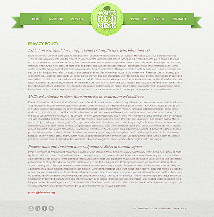 Template 40047 ( Privacy Policy Page ) ADOBE Photoshop Screenshot