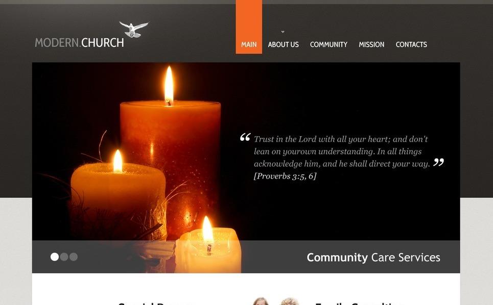 Plantilla Web #40052 para Sitio de Religión New Screenshots BIG