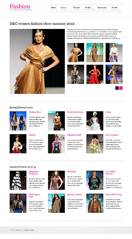 Template 40053 ( Fashion Page ) ADOBE Photoshop Screenshot