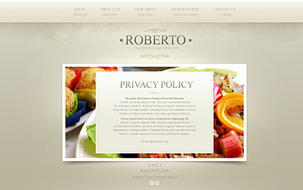 Template 40054 ( Privacy Policy Page ) ADOBE Photoshop Screenshot