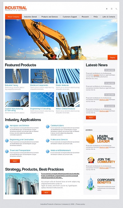 ADOBE Photoshop Template 40062 Home Page Screenshot