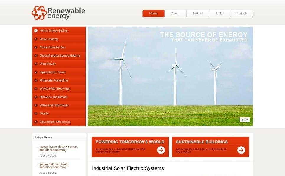 Szablon Flash CMS #40063 na temat: energia wiatrowa New Screenshots BIG