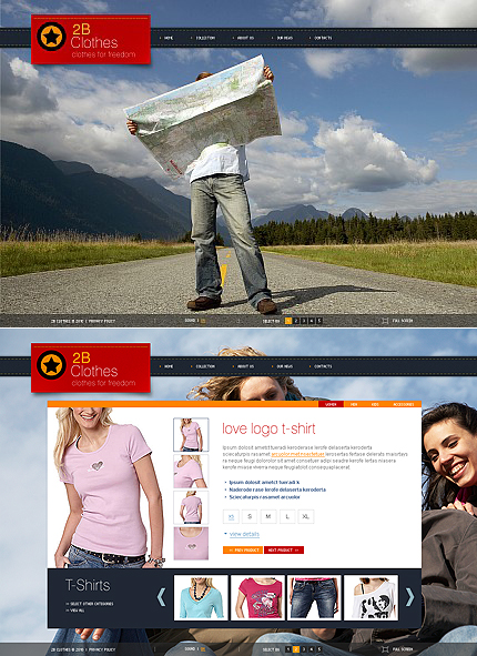 ADOBE Photoshop Template 40064 Home Page Screenshot