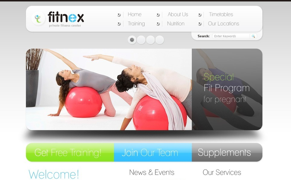 Szablon Flash CMS #40066 na temat: fitness New Screenshots BIG