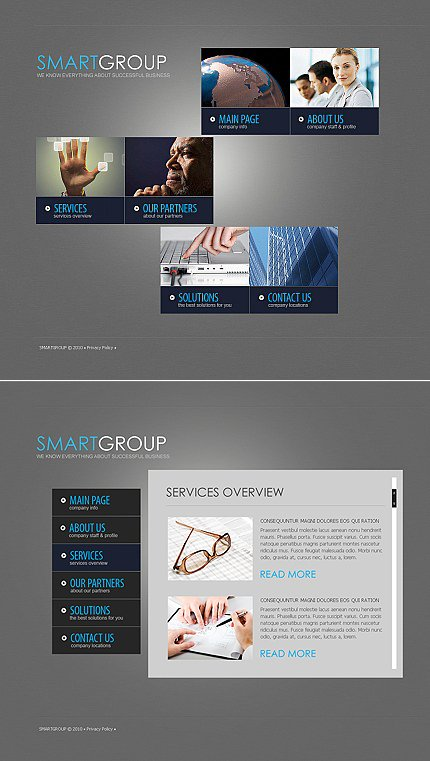 ADOBE Photoshop Template 40067 Home Page Screenshot