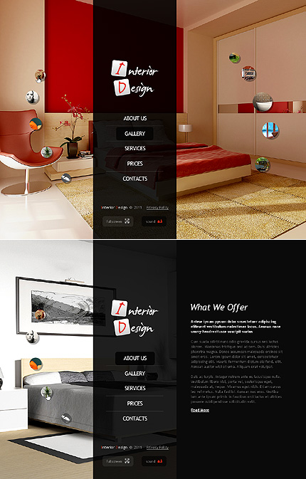ADOBE Photoshop Template 40070 Home Page Screenshot