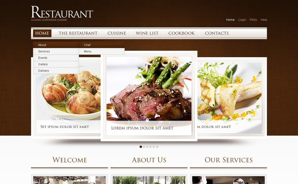 Flash CMS šablona Kavárny a Restaurace New Screenshots BIG