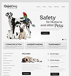 Animals & Pets Flash CMS  Template 40072