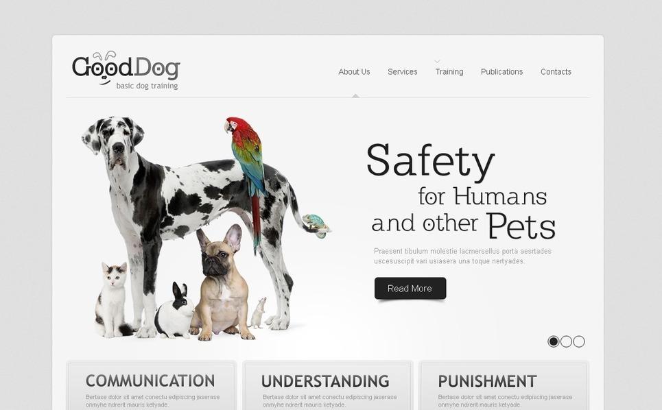 Template Flash CMS  #40072 per Un Sito di Cani New Screenshots BIG