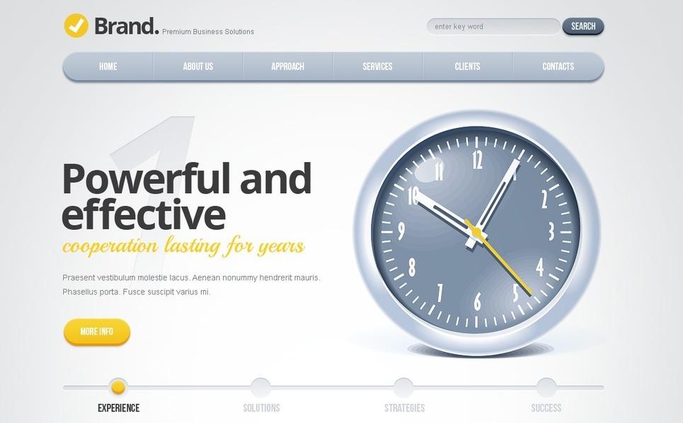 Modèle Flash CMS  pour site d'affaires et de services New Screenshots BIG