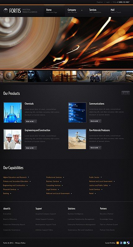 ADOBE Photoshop Template 40076 Home Page Screenshot