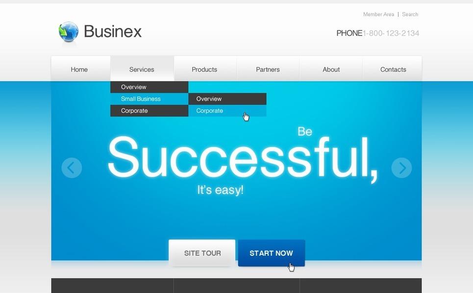 Tema Flash CMS  #40077 per Un Sito di Business e Servizi New Screenshots BIG