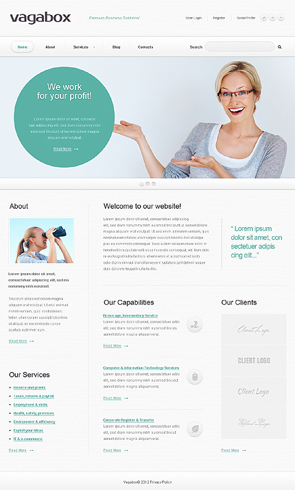Joomla Theme/Template 40081 Main Page Screenshot