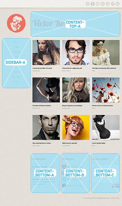 Joomla Theme/Template 40085 Main Page Screenshot