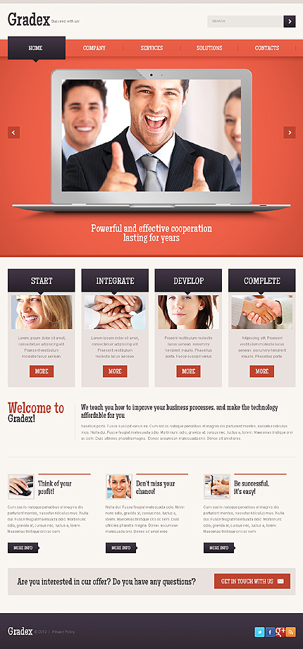 Joomla Theme/Template 40090 Main Page Screenshot