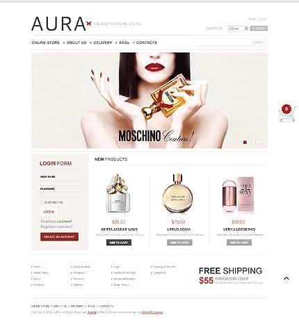 ADOBE Photoshop Template 40096 Home Page Screenshot