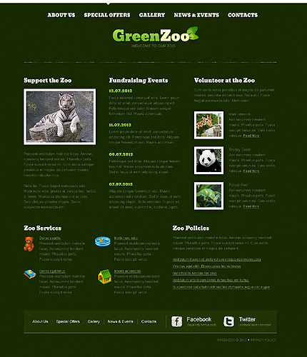 Template 40098 ( Special offers Page ) ADOBE Photoshop Screenshot