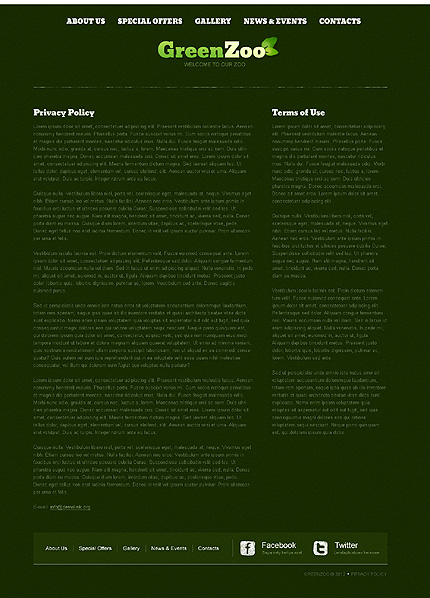Template 40098 ( Privacy Policy Page ) ADOBE Photoshop Screenshot