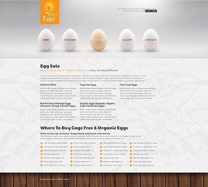 Template 40099 ( Egg Sale Page ) ADOBE Photoshop Screenshot