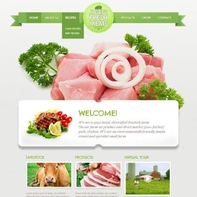 Cattle Farm Responsive Website Template - Fresh virtual museum template design