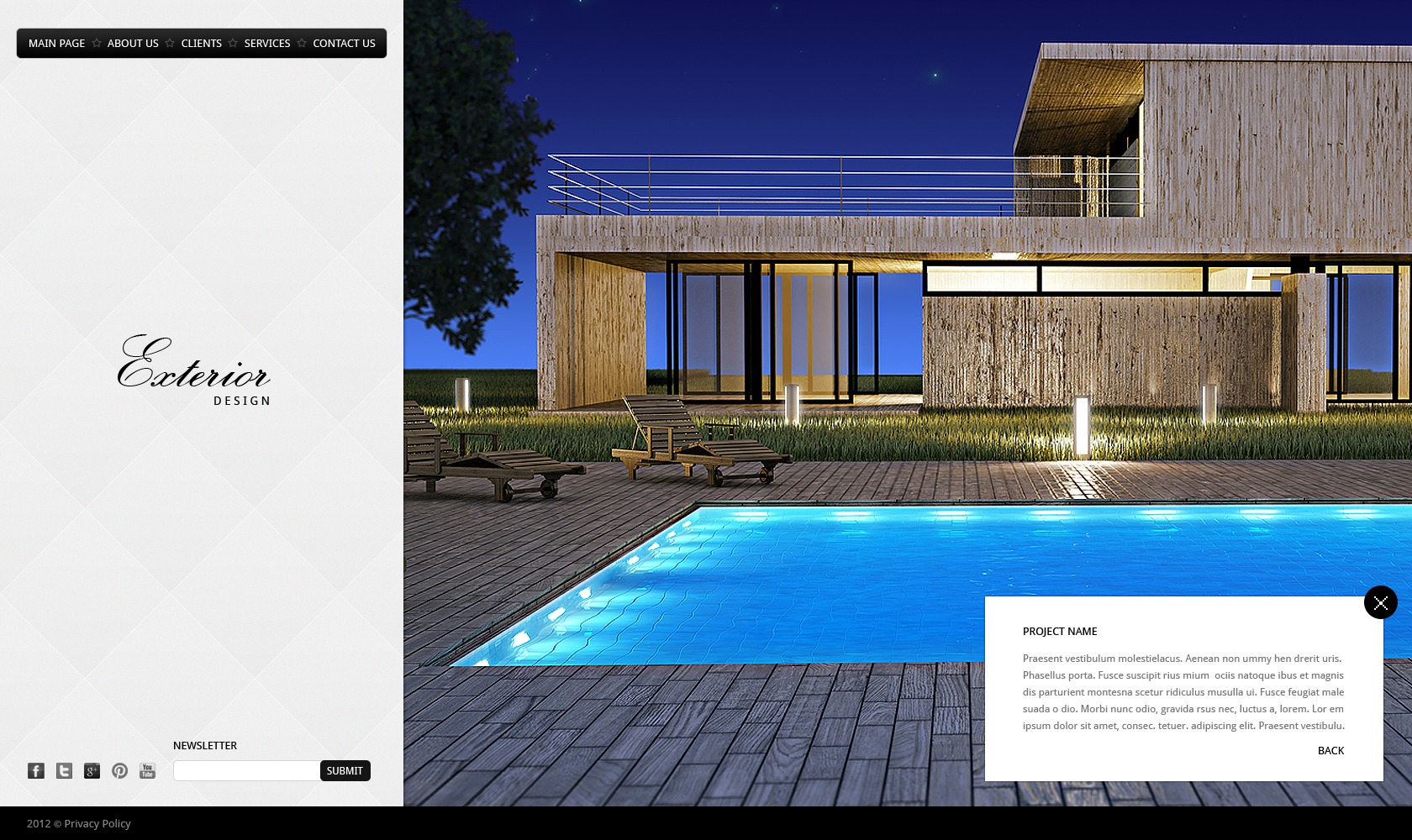 Exterior design website template 40030 for Exterior design website templates