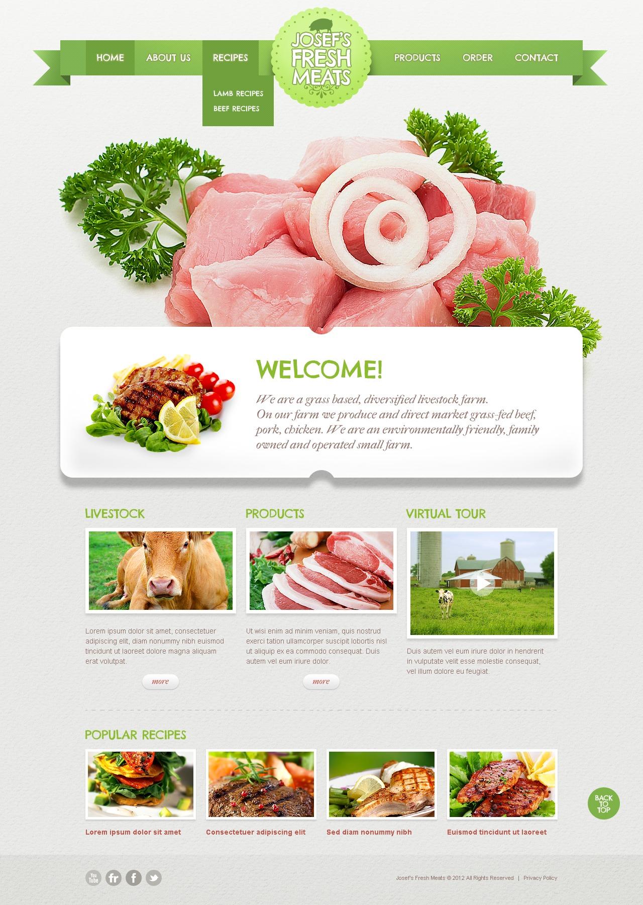 Шаблон сайту на тему велика рогата худоба №40047