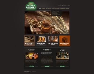 Brewery Weboldal Sablon