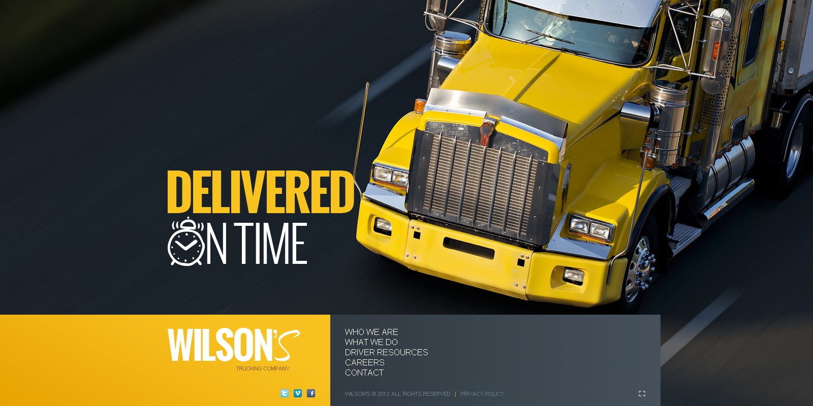 Trucking Company Website Template