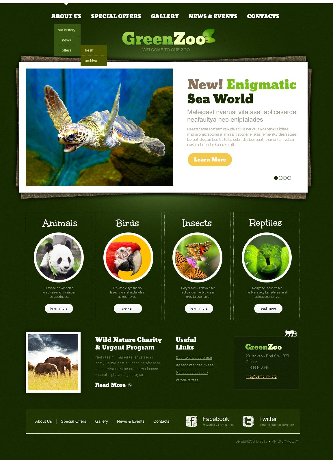 Zoo website template 40098 zoo website template toneelgroepblik Gallery