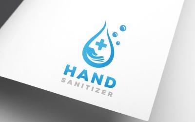 Water Drop Hand Wash Sanitizer Design Logo Template