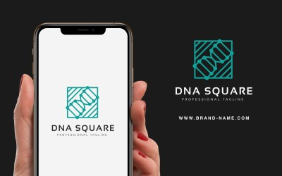 DNA Kare Logo Şablonu
