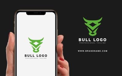 Шаблон логотипа Bull