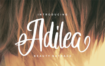 Adilea   Beauty Natrace Cursive Font