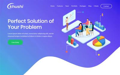 Khushi - One Page Parallax WordPress theme
