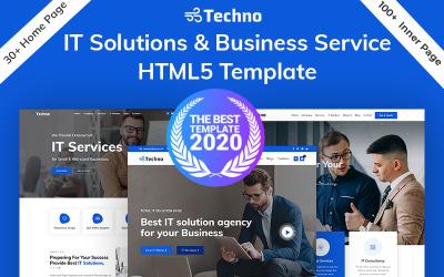Modelo HTML5 de solução de tecnologia de TI e consultoria de negócios