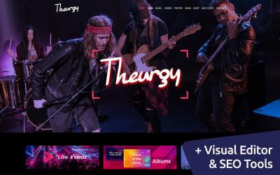 Theurgy - Music Band Moto CMS 3 sablon