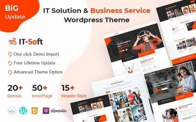 IT-Soft - IT Solutions &  Multipurpose WordPress Theme