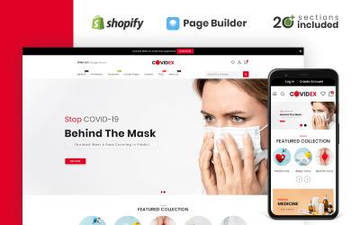 Тема Shopify Интернет-магазин Covidex Health + Medicine