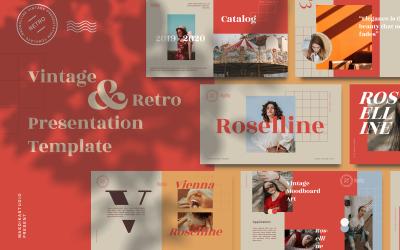 Roselline - Vintage Retro PowerPoint sablon